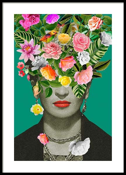 Frida Floral 1 Poster in the group Posters & Prints / Sizes / 50x70cm | 20x28 at Desenio AB (3456)
