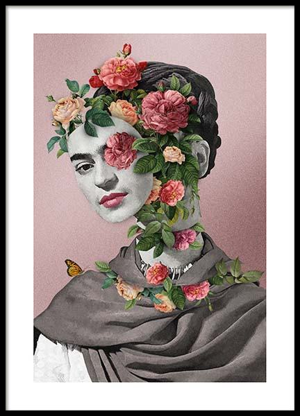 Frida Floral 2 Poster in the group Posters & Prints / Art prints at Desenio AB (3457)