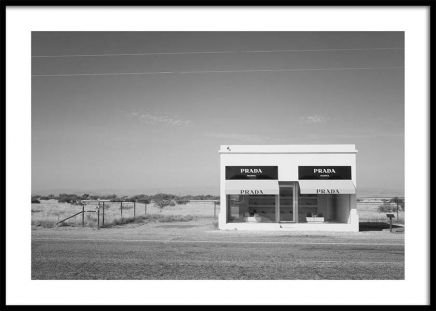 Irony In Texas Bw Poster in the group Posters & Prints / Photography at Desenio AB (3471)