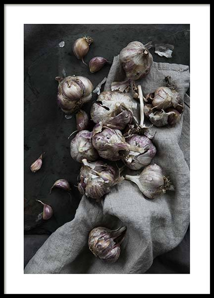 Garlic No1 Poster in the group Posters & Prints / Kitchen at Desenio AB (3483)