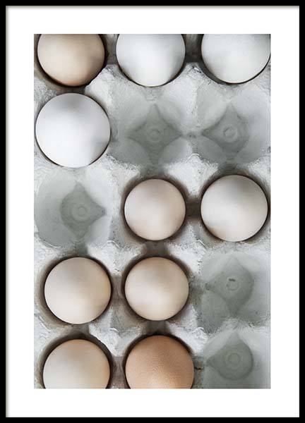 Eggs In A Box No2 Poster in the group Posters & Prints / Kitchen at Desenio AB (3493)