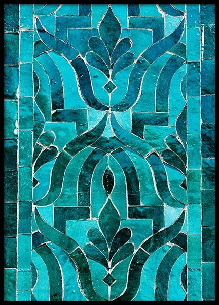 Green Oriental Mosaic Poster in the group Posters & Prints / Photography at Desenio AB (3553)