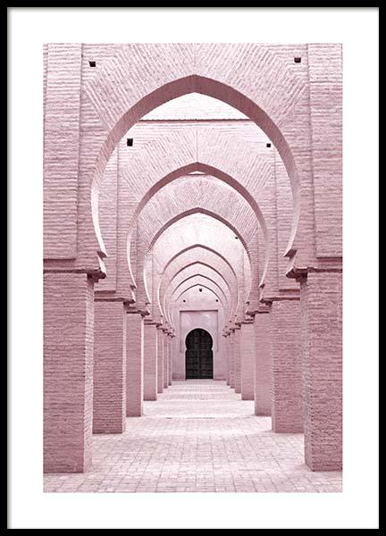 Pink Arches Poster