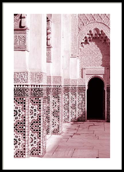 Pink Ornamental Architecture Poster in the group Posters & Prints / Photography at Desenio AB (3557)