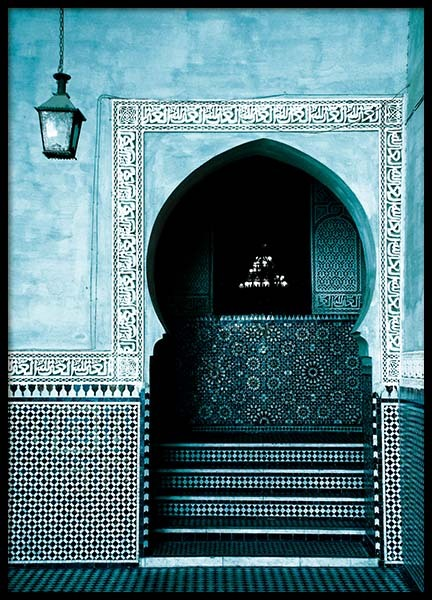 Blue Arabesque Arch Poster in the group Posters & Prints / Photography at Desenio AB (3558)