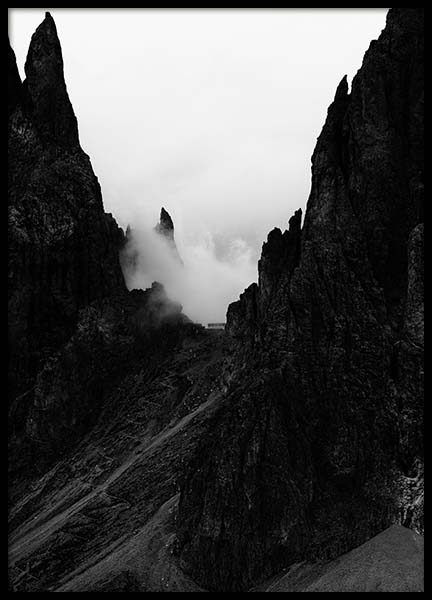 Mountain Cliff Poster in the group Posters & Prints / Black & white at Desenio AB (3580)