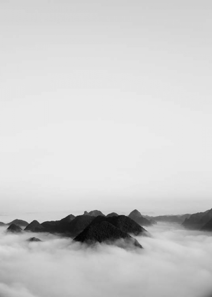 Cloudy Mountain Poster in the group Posters & Prints / Black & white at Desenio AB (3583)