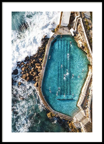 Bronte Swimming Pool Poster in the group Posters & Prints / Nature at Desenio AB (3584)