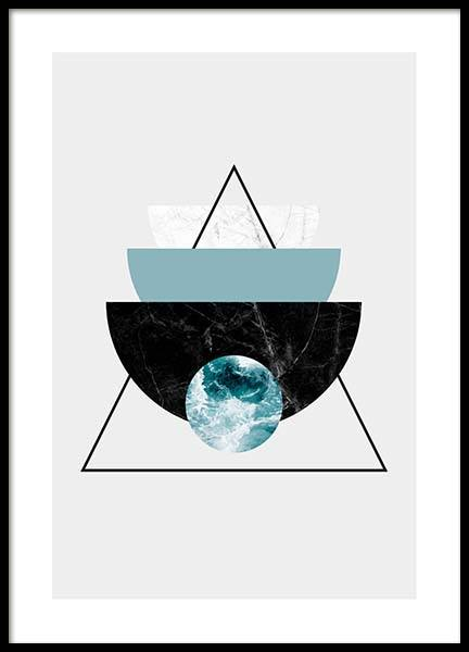 Graphic Half Moon Triangle Poster in the group Posters & Prints / Graphical at Desenio AB (3589)