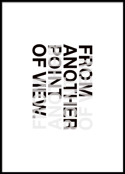 Another Point Of View Poster in the group Posters & Prints / Typography & quotes at Desenio AB (3606)