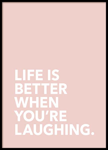 Life Is Better Poster in the group Posters & Prints / Typography & quotes at Desenio AB (3616)