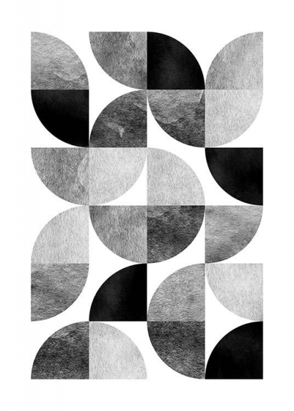 Circle Pattern No 1 Poster in the group Posters & Prints / Graphical at Desenio AB (3698)