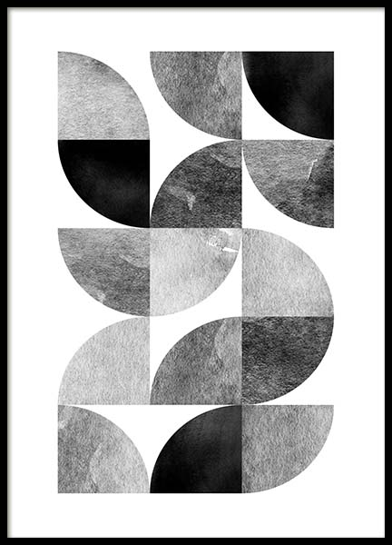 Circle Pattern No 2 Poster in the group Posters & Prints / Graphical at Desenio AB (3699)