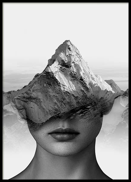 Mountain Thoughts Poster in the group Posters & Prints / Black & white at Desenio AB (3710)
