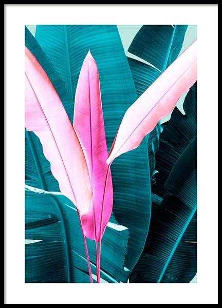 Neon Leaves One Poster in the group Posters & Prints / Botanical at Desenio AB (3767)