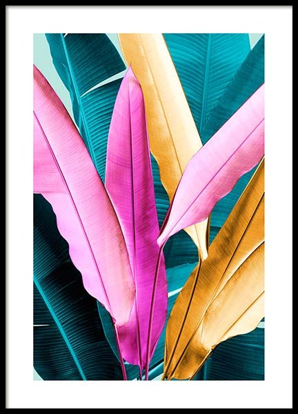 Neon Leaves Two Poster in the group Posters & Prints / Botanical at Desenio AB (3768)