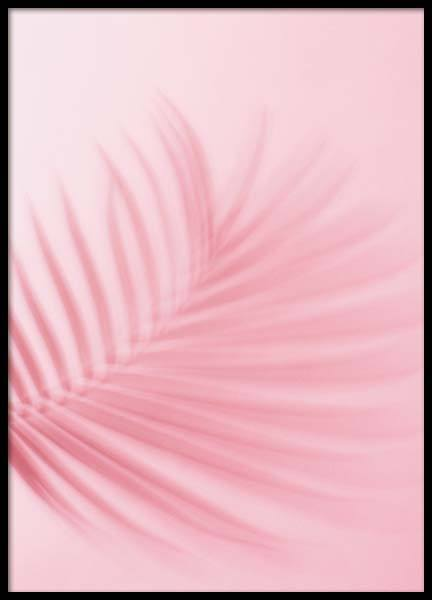 Pink Palm Leaf Poster in the group Posters & Prints / Photography at Desenio AB (3814)