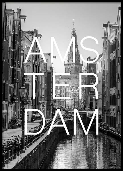 Amsterdam B&W Poster in the group Posters & Prints / Black & white at Desenio AB (3846)