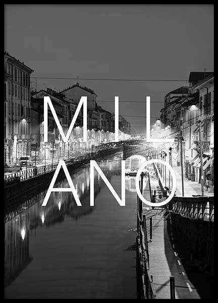 Milano B&W Poster in the group Posters & Prints / Black & white at Desenio AB (3850)
