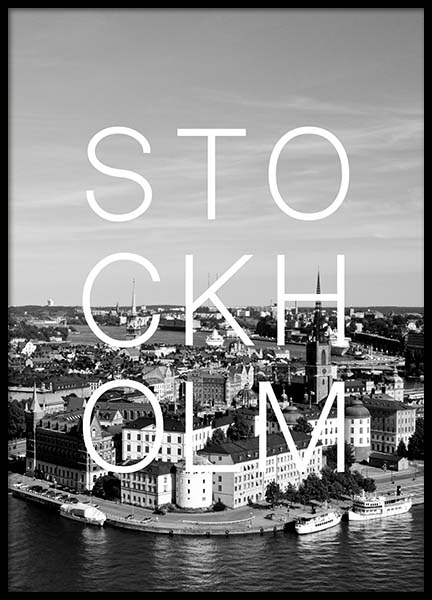 Stockholm B&W Poster in the group Posters & Prints / Black & white at Desenio AB (3853)