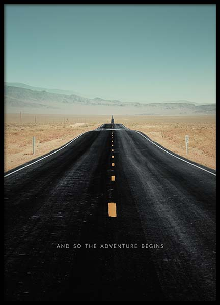 The Adventure Begins Poster in the group Posters & Prints / Text posters at Desenio AB (3858)