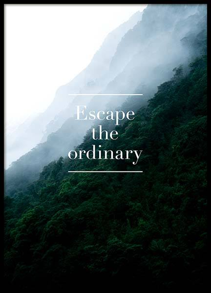 Escape The Ordinary Poster in the group Posters & Prints / Typography & quotes at Desenio AB (3860)