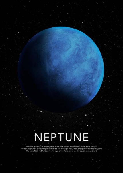 Neptune Poster in the group Posters & Prints / Kids posters at Desenio AB (3870)