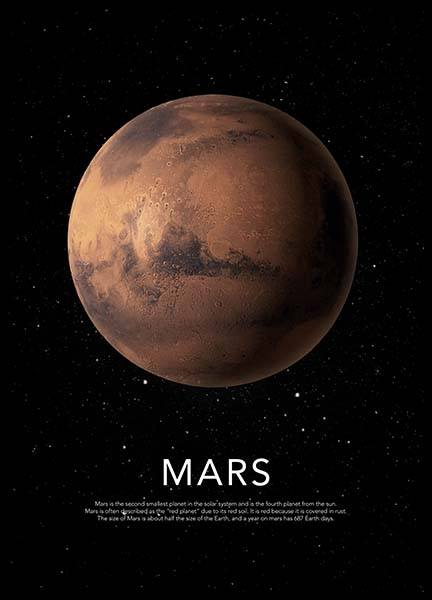 Mars Poster in the group Posters & Prints / Kids posters at Desenio AB (3871)