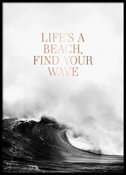 Life's A Beach Poster in the group Posters & Prints / Text posters at Desenio AB (3873)