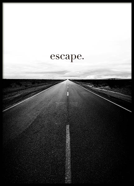 Road to Escape Poster in the group Posters & Prints / Text posters at Desenio AB (3877)