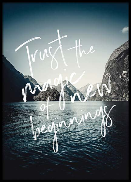 Trust The Magic Poster in the group Posters & Prints / Text posters at Desenio AB (3880)