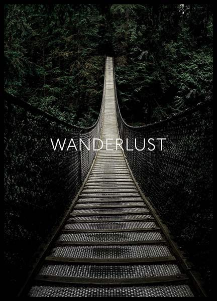 Wanderlust Away Poster in the group Posters & Prints / Nature at Desenio AB (3882)