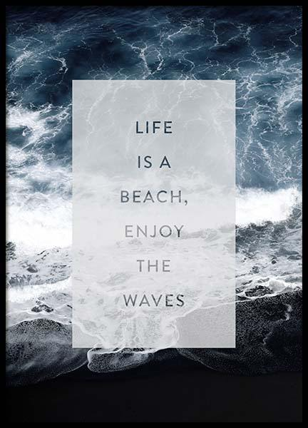 Enjoy The Waves Poster in the group Posters & Prints / Typography & quotes at Desenio AB (3883)