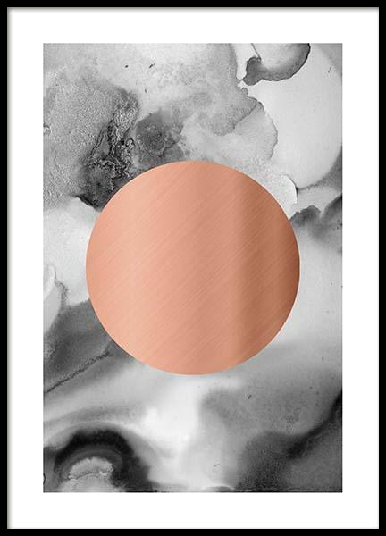 Copper Circle B&W Poster in the group Posters & Prints / Gold & silver at Desenio AB (3885)