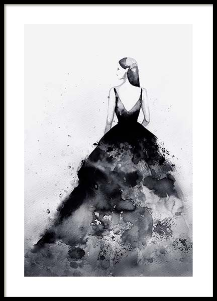 Dramatic Couture Poster in the group Posters & Prints / Black & white at Desenio AB (3899)