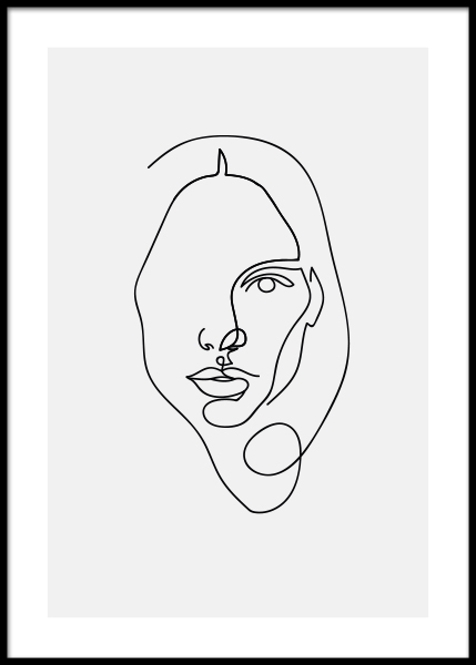 Face Woman Poster in the group Posters & Prints / Art prints at Desenio AB (3918)