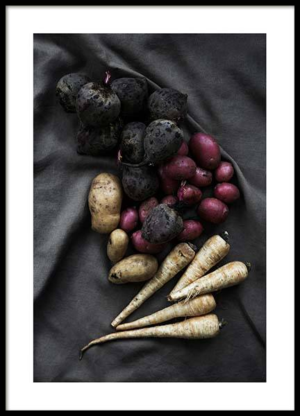 Vegetables From The Garden Poster in the group Posters & Prints / Kitchen at Desenio AB (3934)