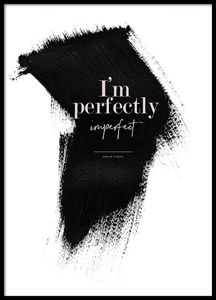 Perfectly Imperfect Poster in the group Posters & Prints / Text posters at Desenio AB (3938)