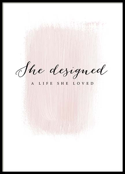 A Life She Loved Poster in the group Posters & Prints / Text posters at Desenio AB (3942)