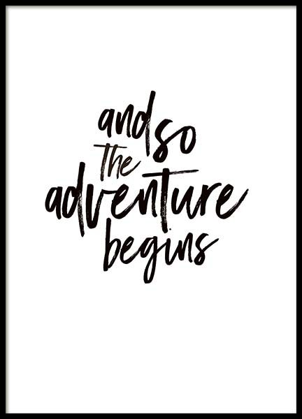 The Adventure Begins Text Poster in the group Posters & Prints / Typography & quotes at Desenio AB (3946)