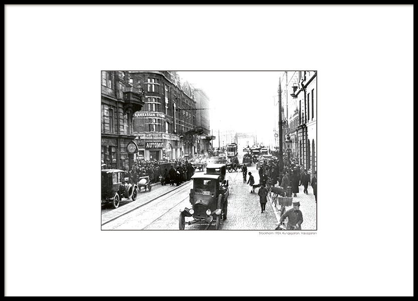 Photo art online, black and white photographs with vintage Stockholm motifs