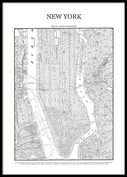 new york map poster posters with a map of manhattan