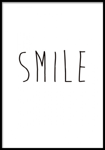 Smile, Posters in the group Posters & Prints / Typography & quotes at Desenio AB (7642, posters)