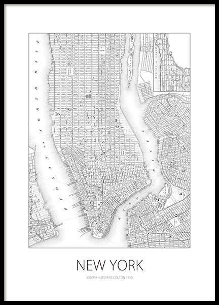 poster poster with map of new york prints online. Black Bedroom Furniture Sets. Home Design Ideas