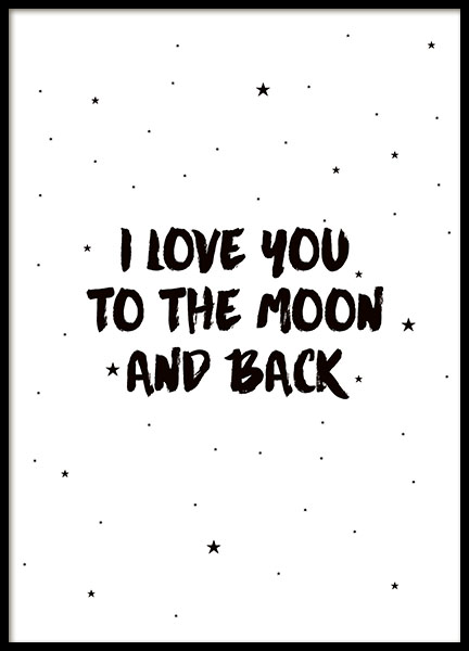 Moon And Back (50x70cm) in the group Posters & Prints / Sizes / 40x50cm | 16x20 at Desenio AB (7786-8)