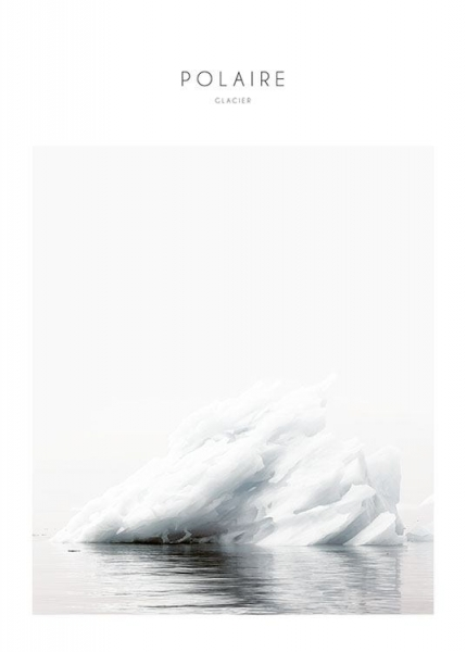 Print with photo art, iceberg natural interior design