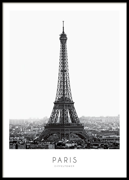 Prints and posters with photography, Eiffel Tower and Paris