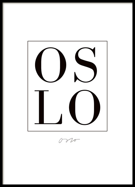 Oslo, Poster in the group Posters & Prints / Text posters at Desenio AB (7837)