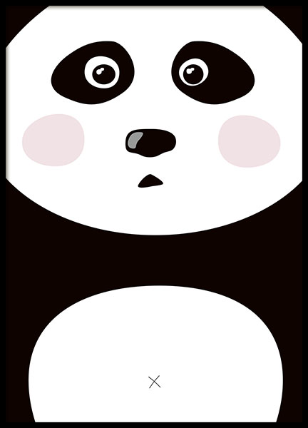 Cute poster with a cute panda for a kids room, webshop online