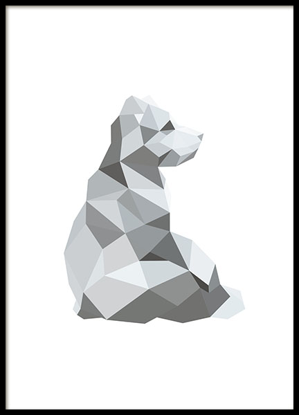 Polygon Bear (21x30cm) in the group Posters & Prints / Sizes / 21x30cm | 8x12 at Desenio AB (7877-4)